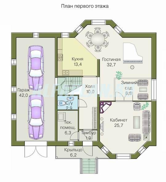 Схемы 2этажных домов