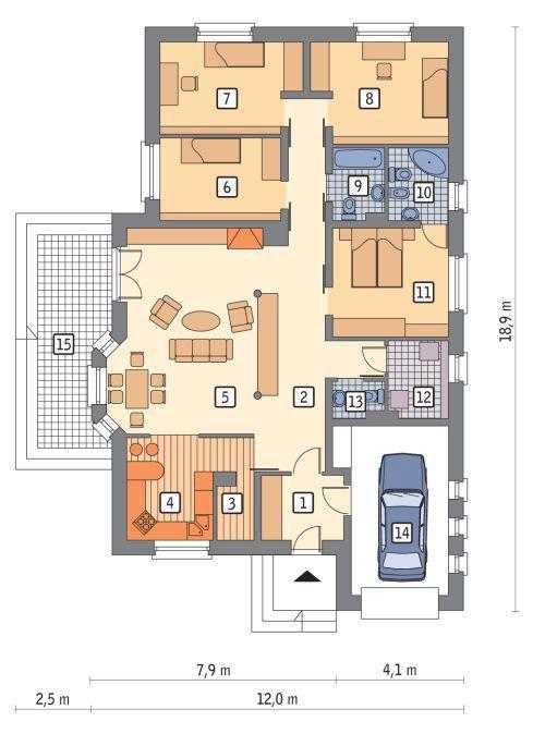 Проекты домов коттеджей из газобетона