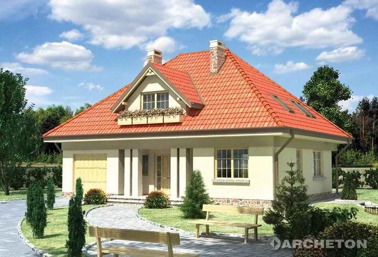 Одноэтажные дома фото крыш.
