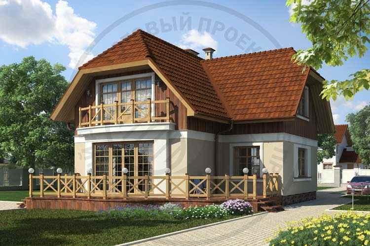 Вид дома проекта дома коттеджи из