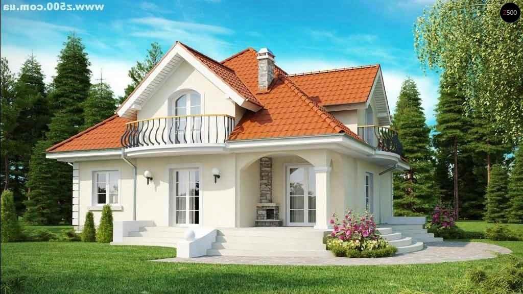 Зеркальный вид дома дома коттеджи из