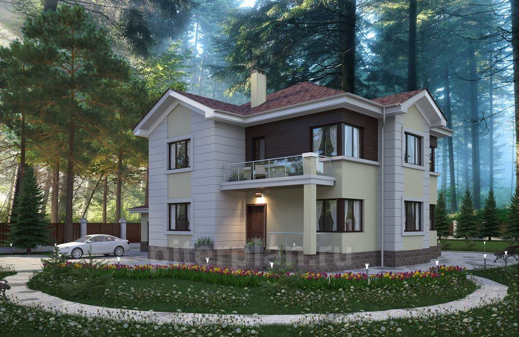 Схемы домов коттеджей