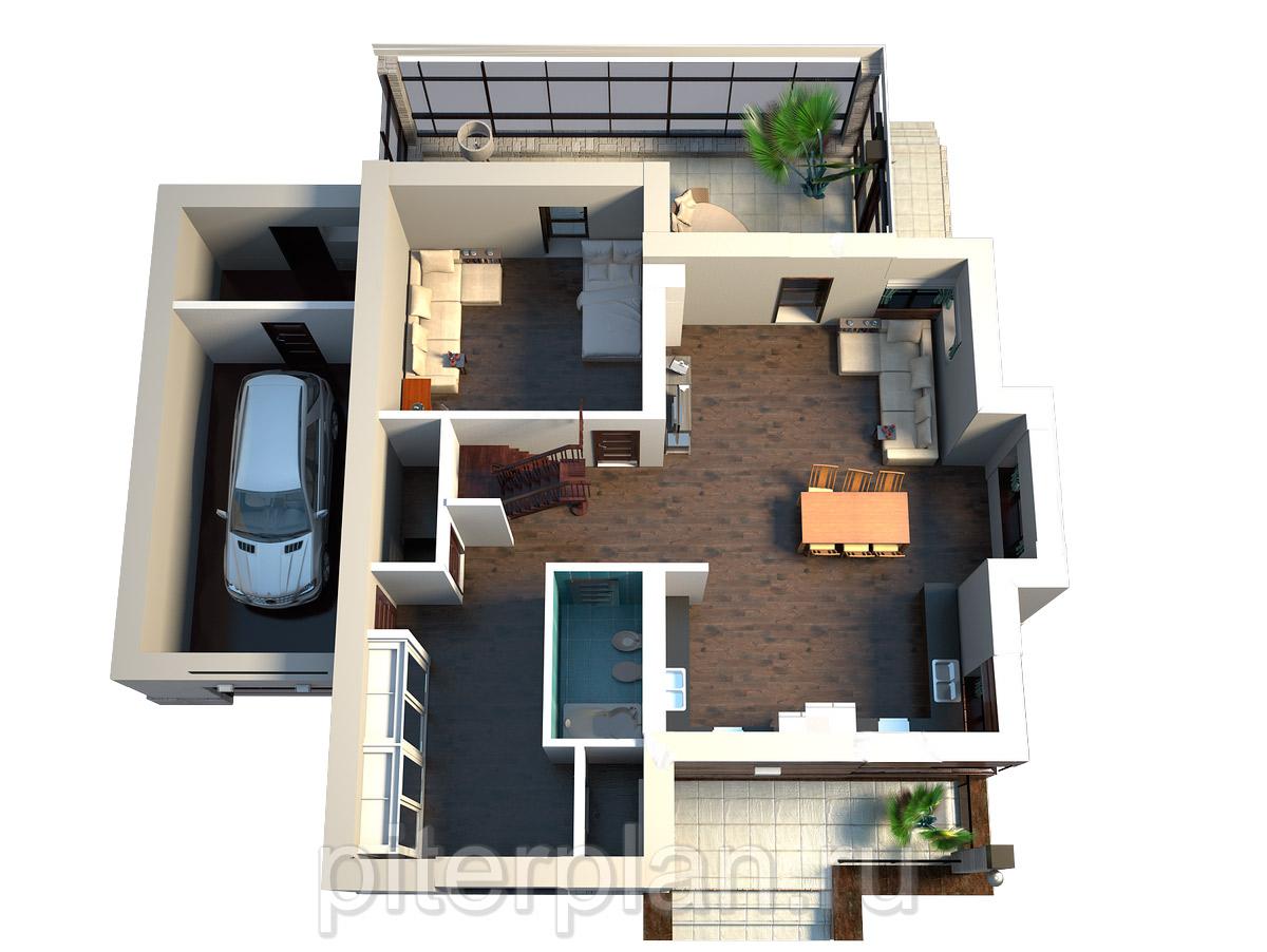 3d проэкты домов: