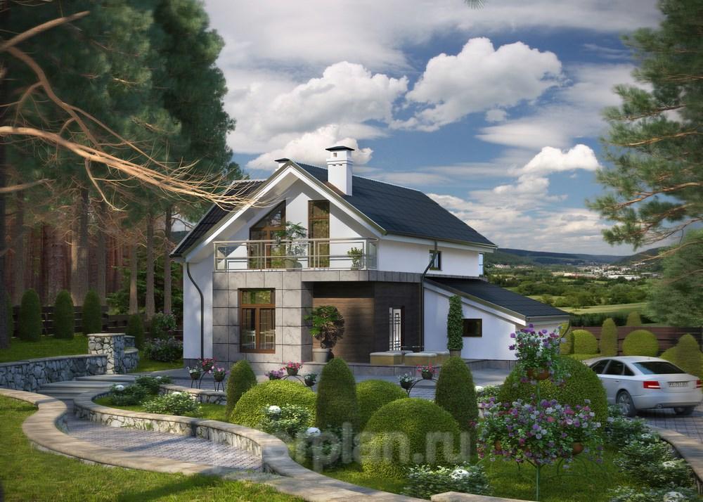 Проект загородного дома, коттеджа Норд-121pp-Проекты домов